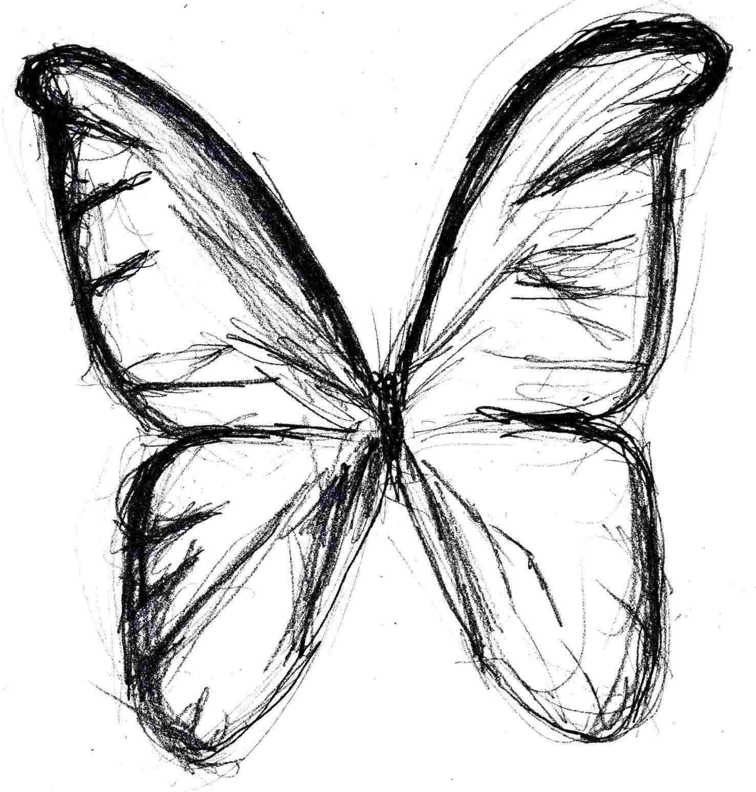 1476x1546 Simple Butterflies Drawings Easy