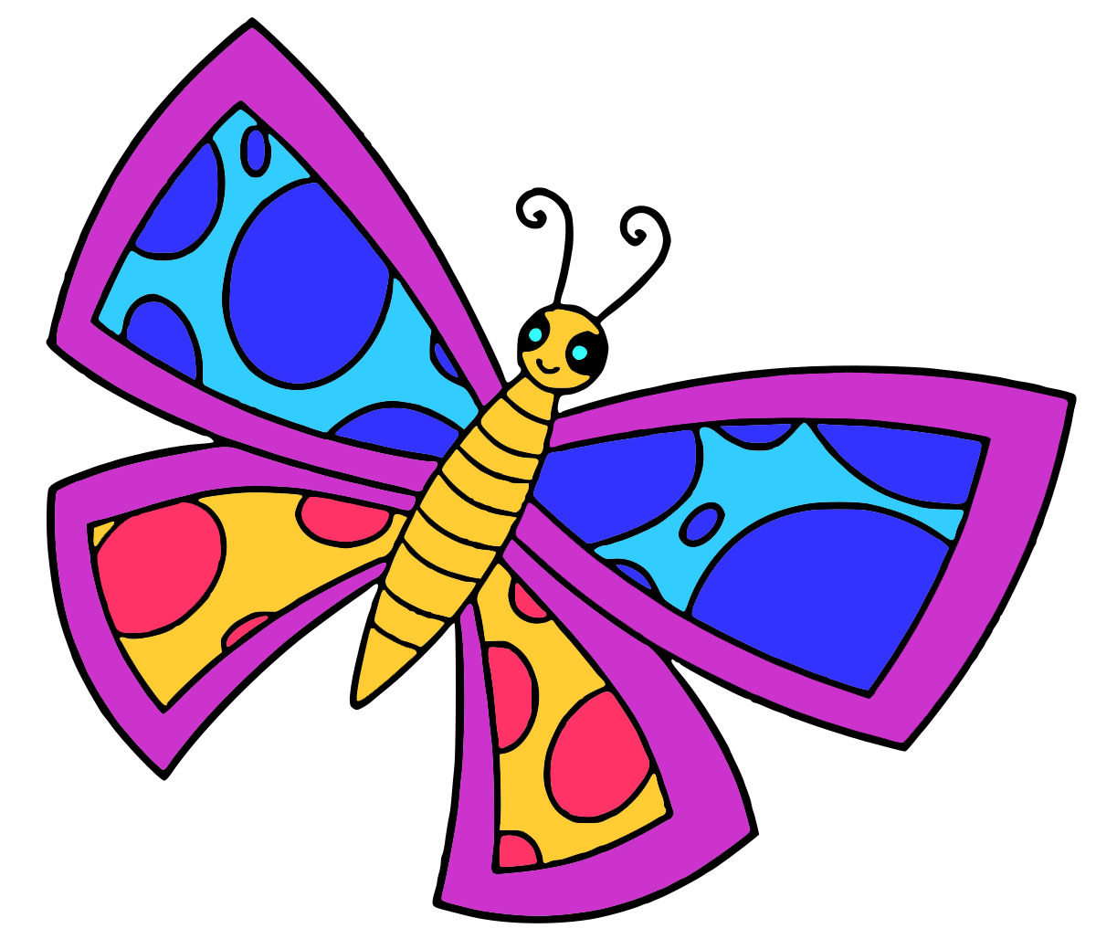 1200x1028 Glitter Butterfly Drawing For Kids