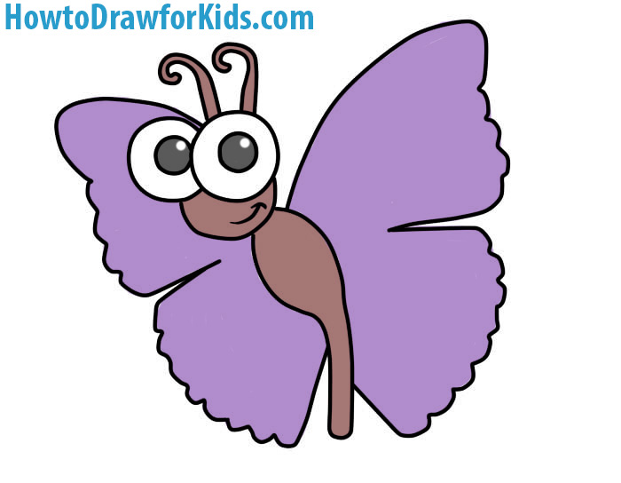 700x544 How To Draw A Butterfly For Kids How To Draw For Kids