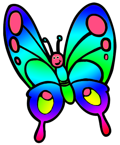 391x472 Butterfly Clipart