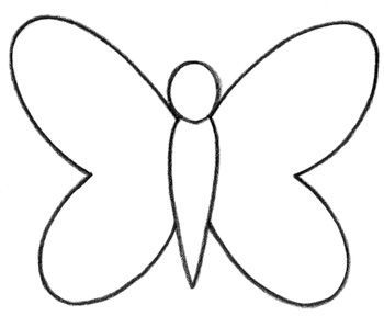 350x288 Learn How To Draw A Butterfly For Kids