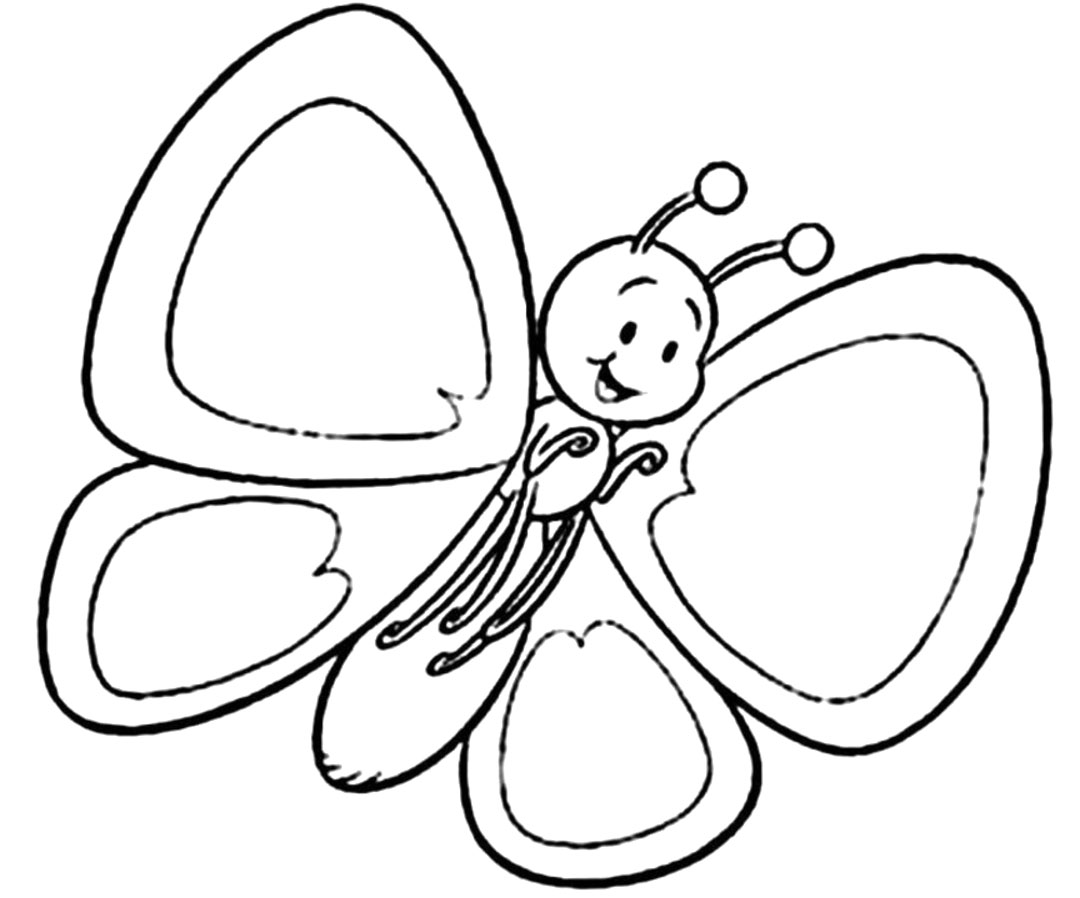 1080x898 Printable Butterfly Coloring Pages Drawing For Kids Books Book