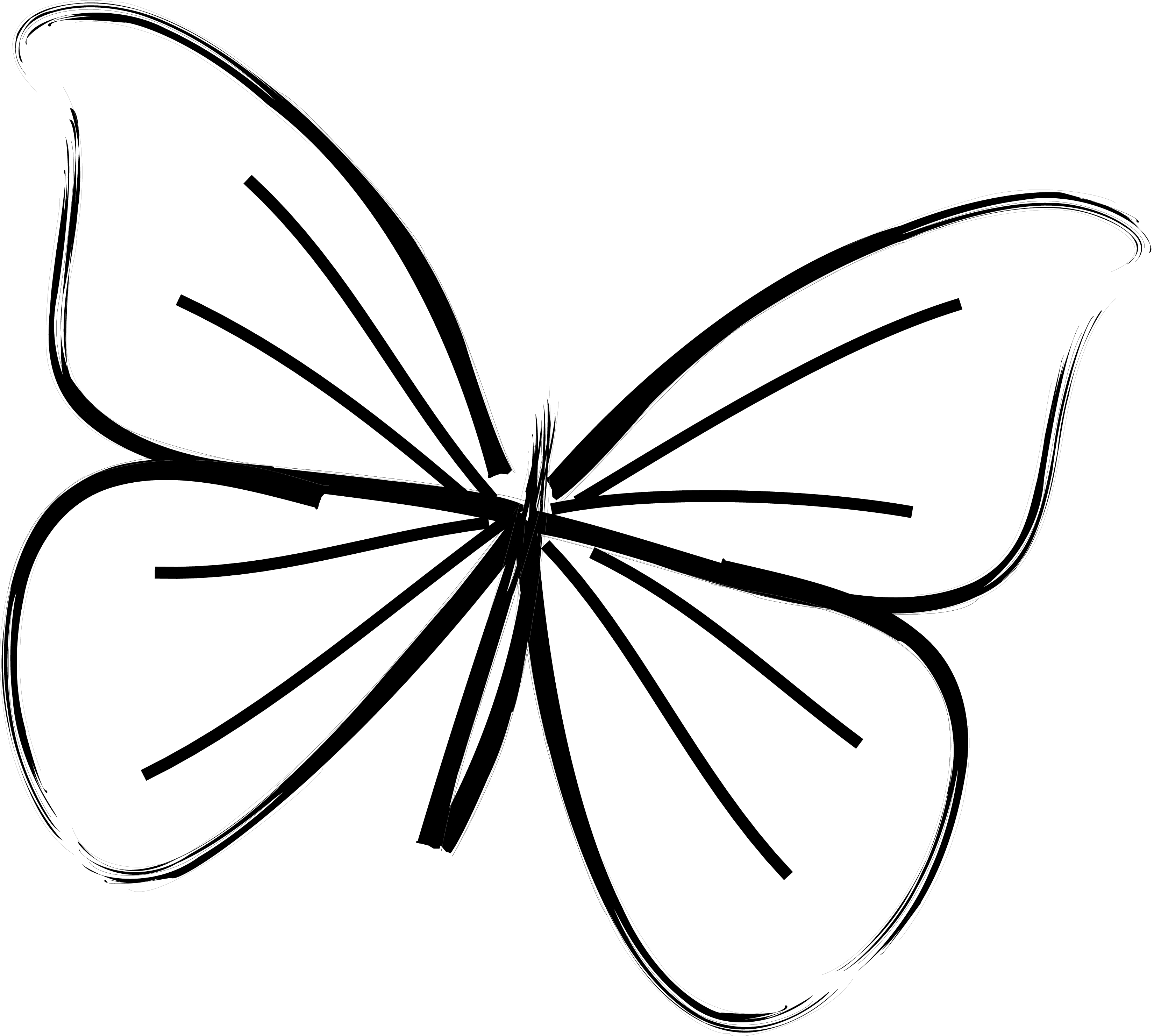 3300x2962 Simple Butterflies Drawings Butterfly Images Drawing Easy Coloring