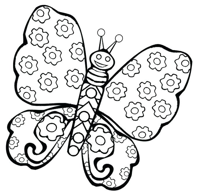 680x666 Butterflies Drawings For Kids