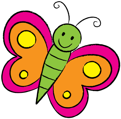 400x396 Butterfly Drawings For Kids