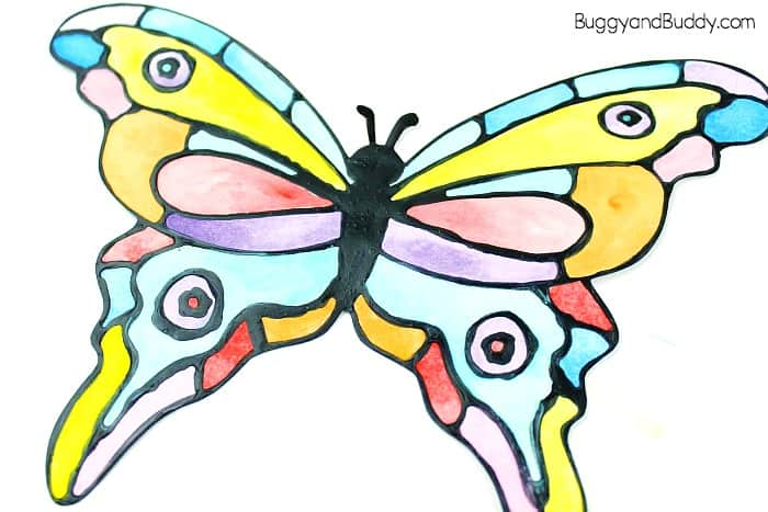 700x467 Colorful Painted Paper Butterfly Craft For Kids
