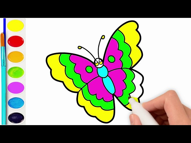 640x480 Download Thumbnail For Butterfly Drawing Coloring For Kids