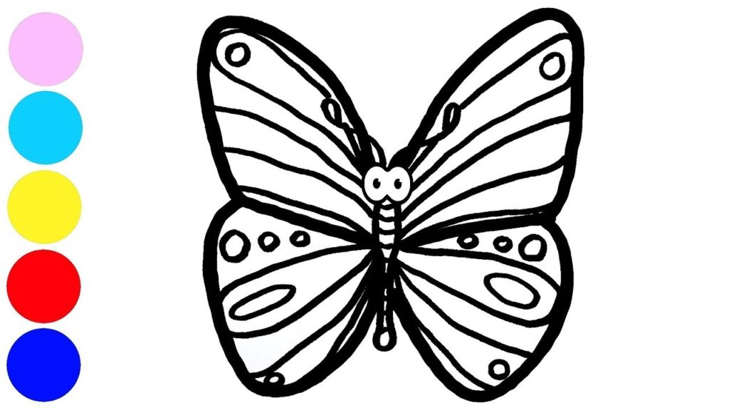 1024x576 Drawing Butterfly And Coloring With Paint For Kids, Children