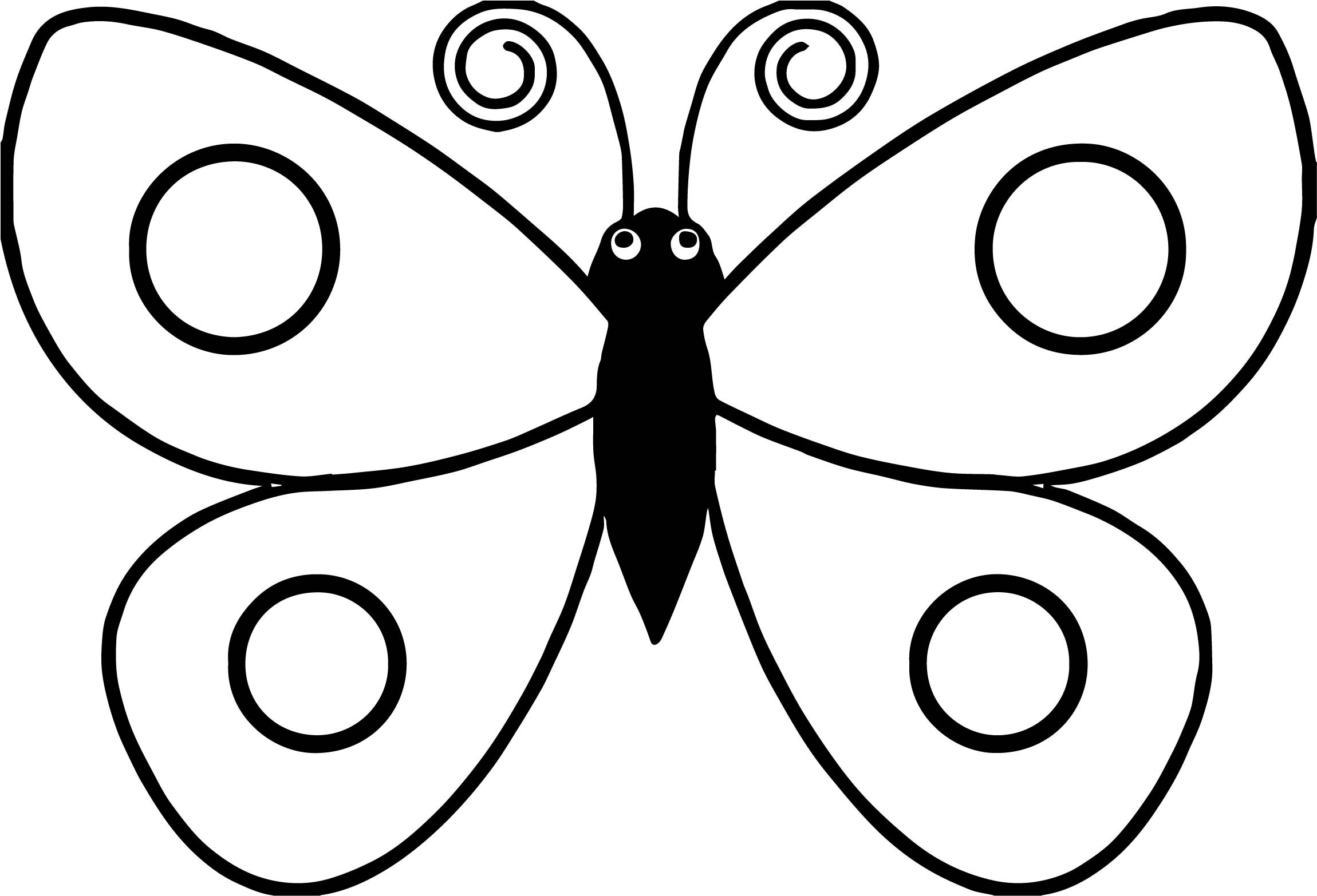 Butterfly Drawing For Kids | Free download on ClipArtMag