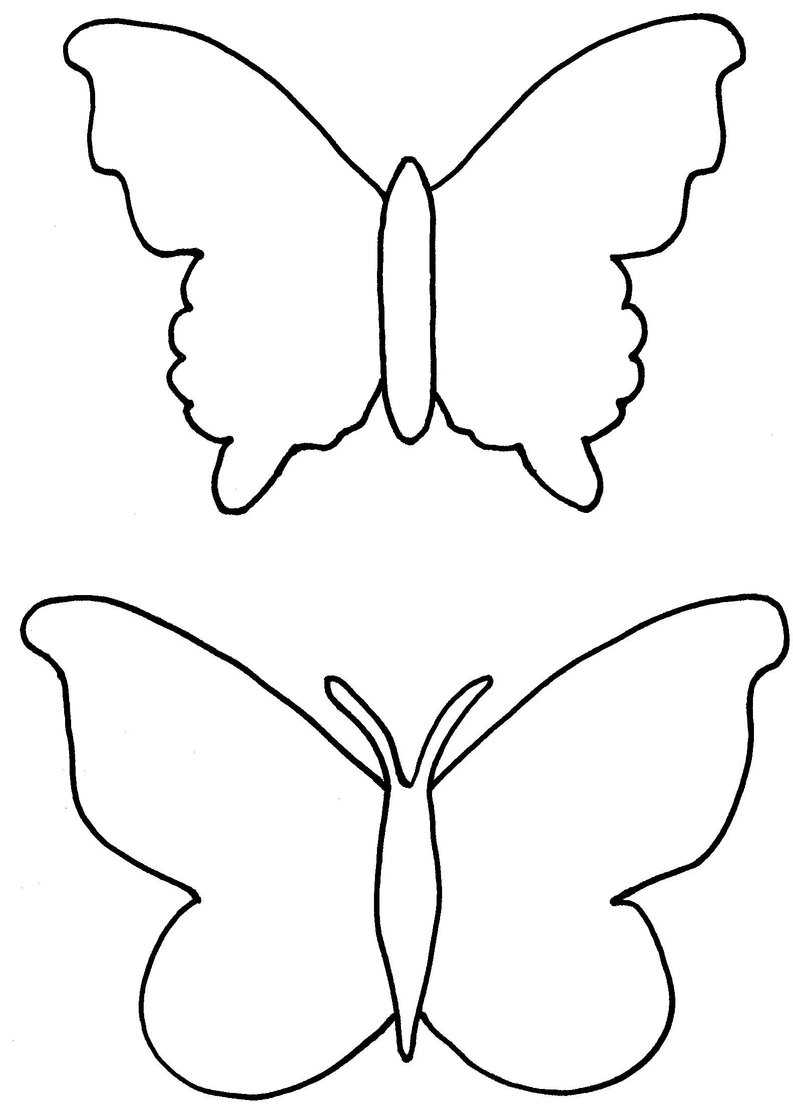 1584x2208 Arts Butterfly Outline Drawing Enticing Collection Of Free