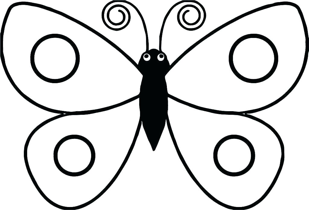 1024x697 Simple Drawing Of A Butterfly Printable Simple Butterfly Drawing