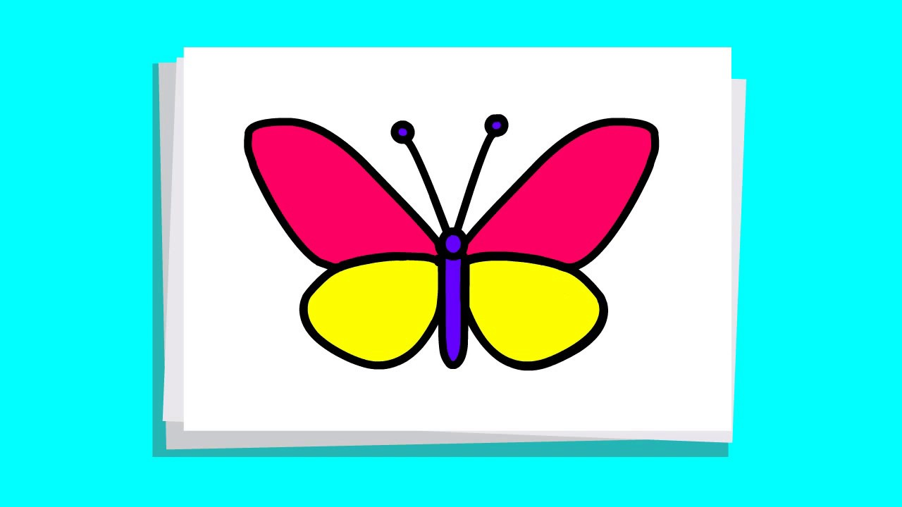 1280x720 Learn To Draw Butterfly Very Easy Step