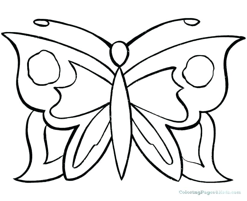 820x670 Simple Drawing Of Butterfly
