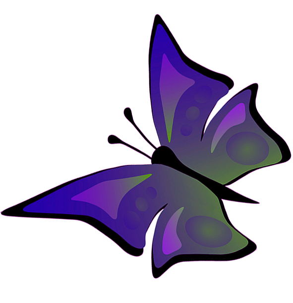 591x611 Butterfly Clipart