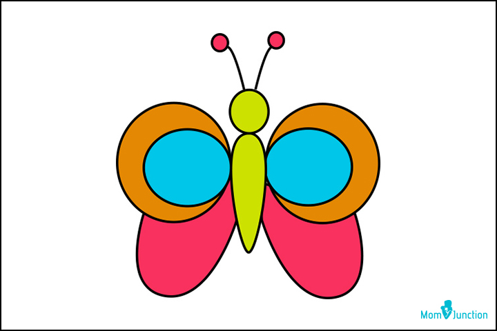 720x480 How To Draw A Butterfly A Step