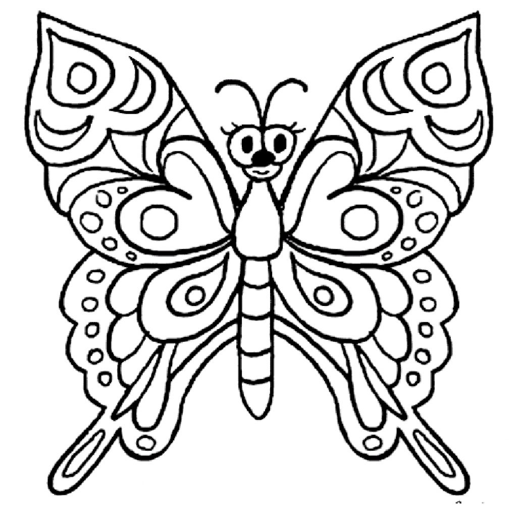 1024x1024 A Butterfly Drawings Step