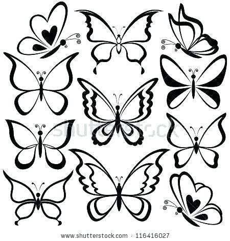 450x470 Butterfly Outline Drawing Drawn Butterfly Outline Butterfly