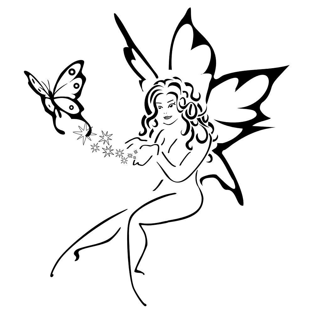 1000x1000 Butterfly Drawing Angel For Free Download On Ayoqq