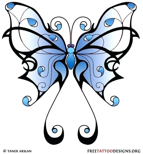 500x535 Butterfly Drawing Designs At Free For Personal Use Girly Butterfly
