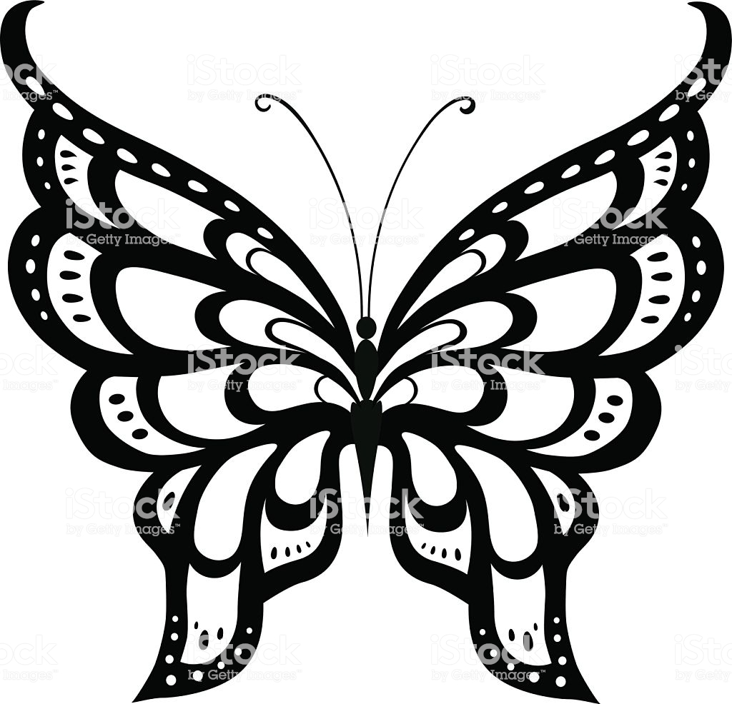 1024x986 Collection Of 'silhouette Butterfly Tattoo' Download More Than