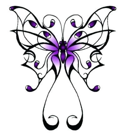 400x431 Finding Free Butterfly Tattoo Designs Butterflies Template Photos