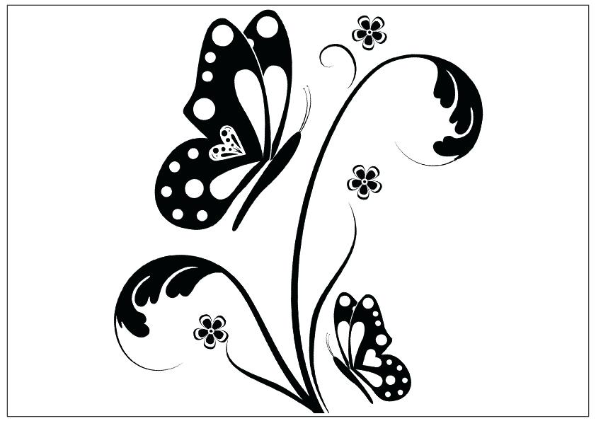 842x595 Flying Butterfly Drawings Flying Butterfly Tattoo Designs