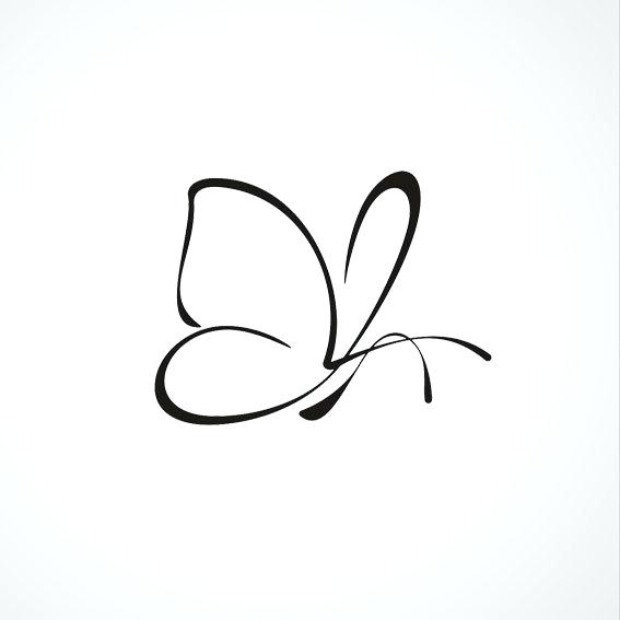 567x567 Outline Butterfly Tattoos Colorful Outline Small Butterfly Outline