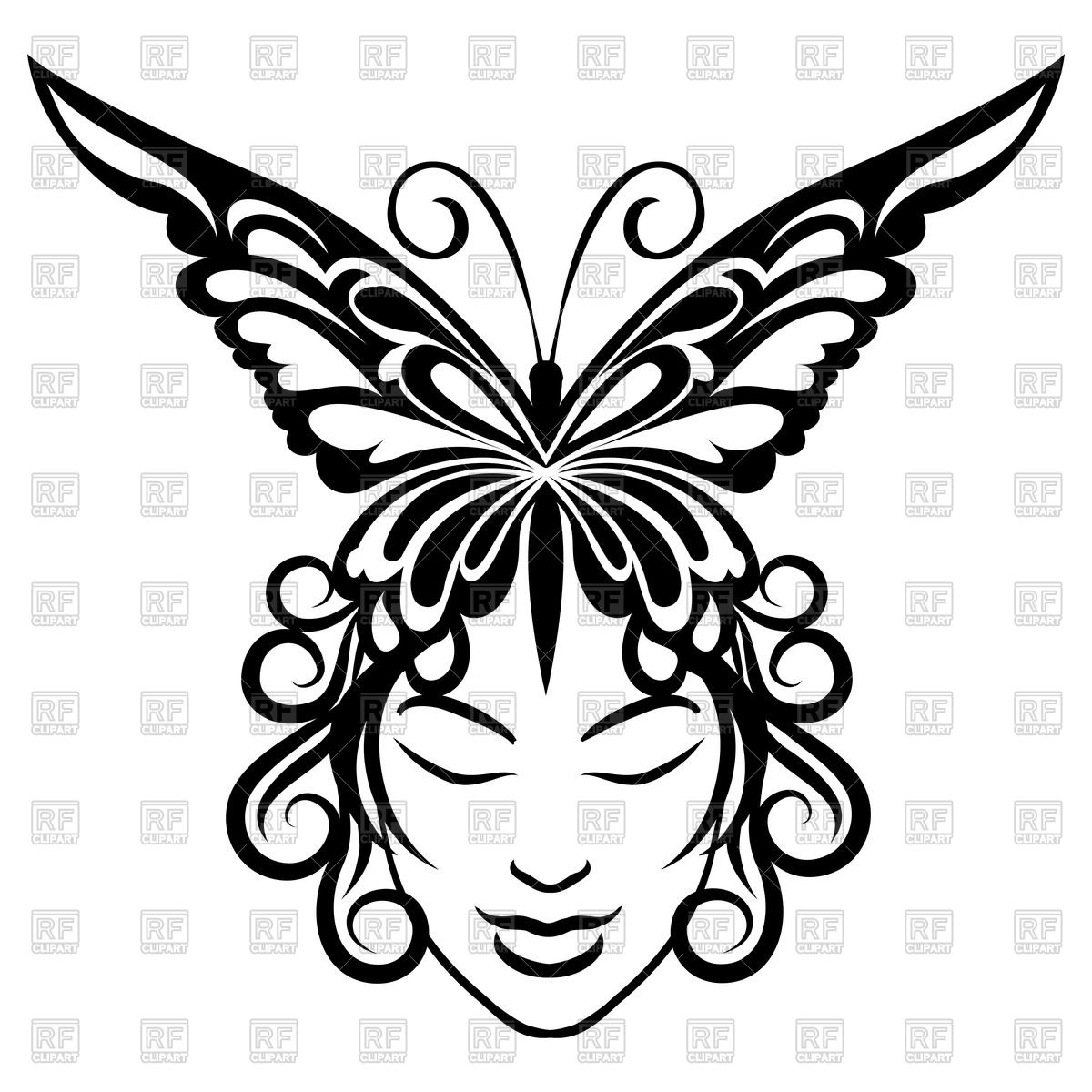 1200x1200 Portrait Of Young Woman And Butterfly