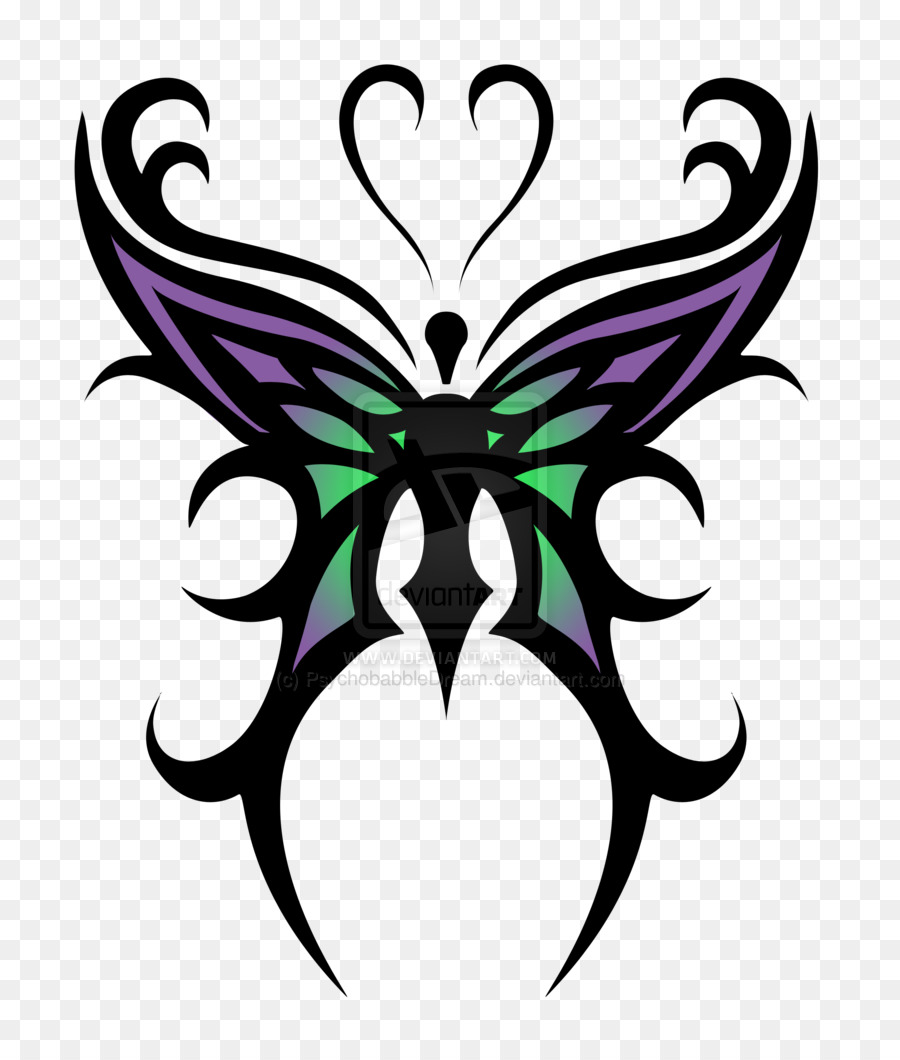 900x1060 Tattoo, Butterfly, Drawing, Transparent Png Image Clipart Free