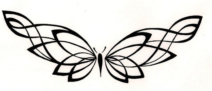 736x317 Butterfly Line Drawing Tattoos Ideas And Designs