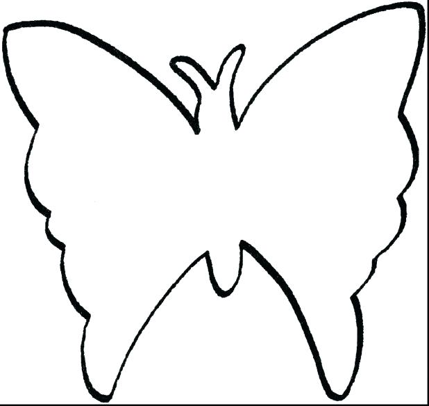 618x584 Outline Butterfly Tattoos