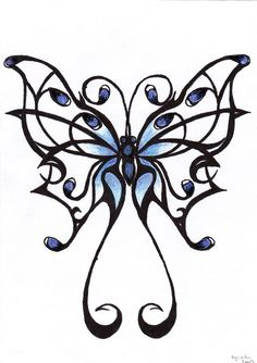 236x334 Best Butterfly Tattoo Drawings Images Butterfly Tattoos