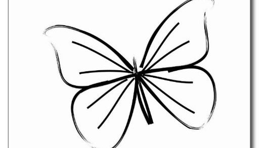 512x293 Awesome Butterfly Tattoo Easy Drawing About Trending Tattoo