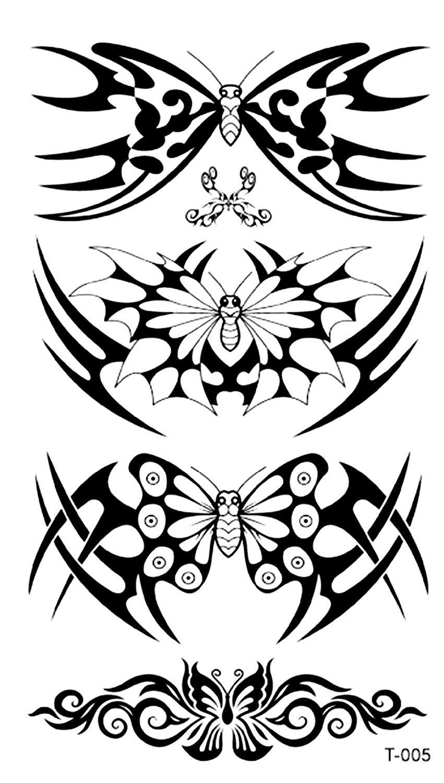 851x1500 Tribal Butterfly Temporary Tattoo Sticker Tattoos