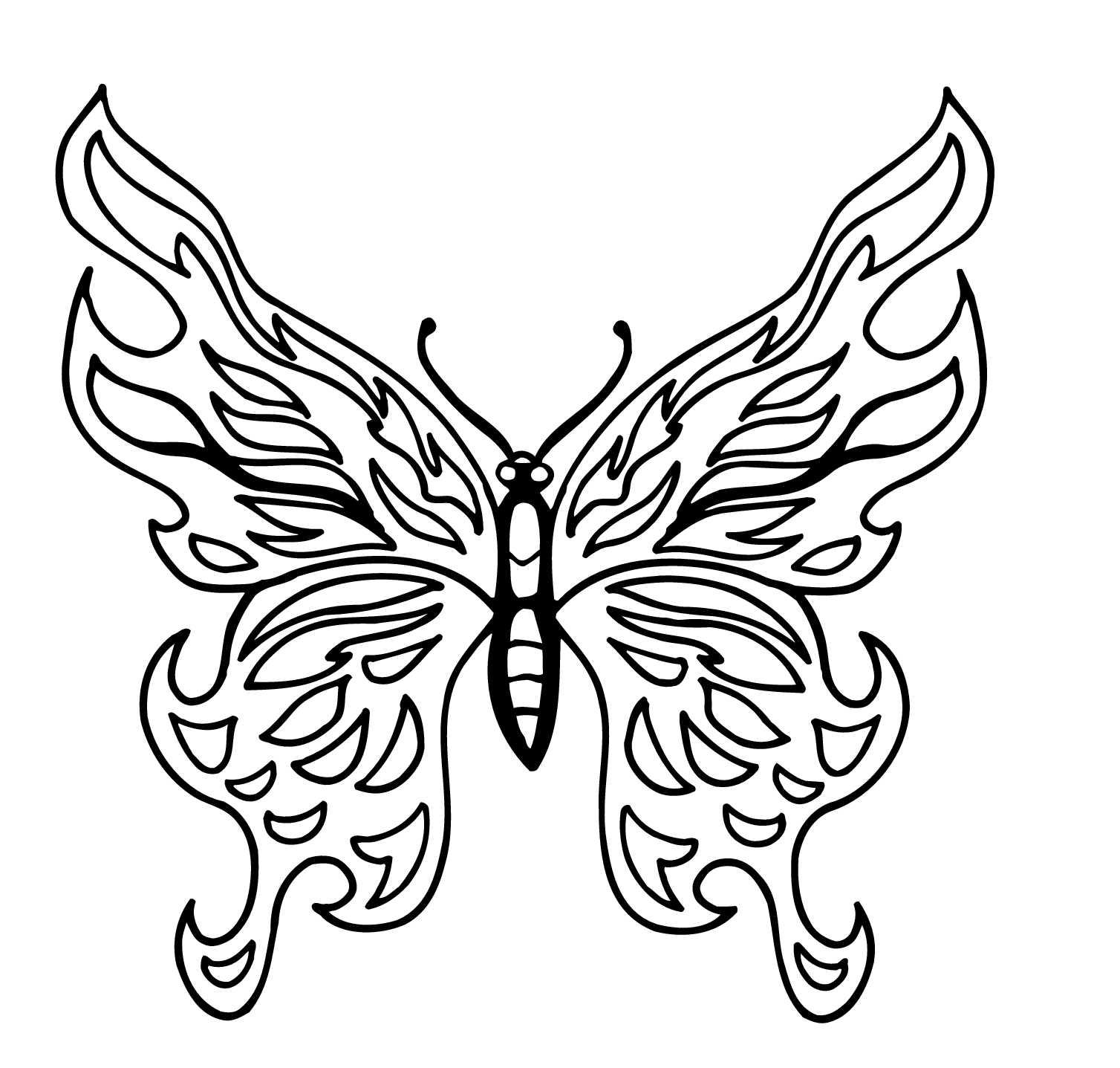 photograph about Butterfly Stencils Printable named Butterfly Drawing Template Cost-free down load excellent Butterfly