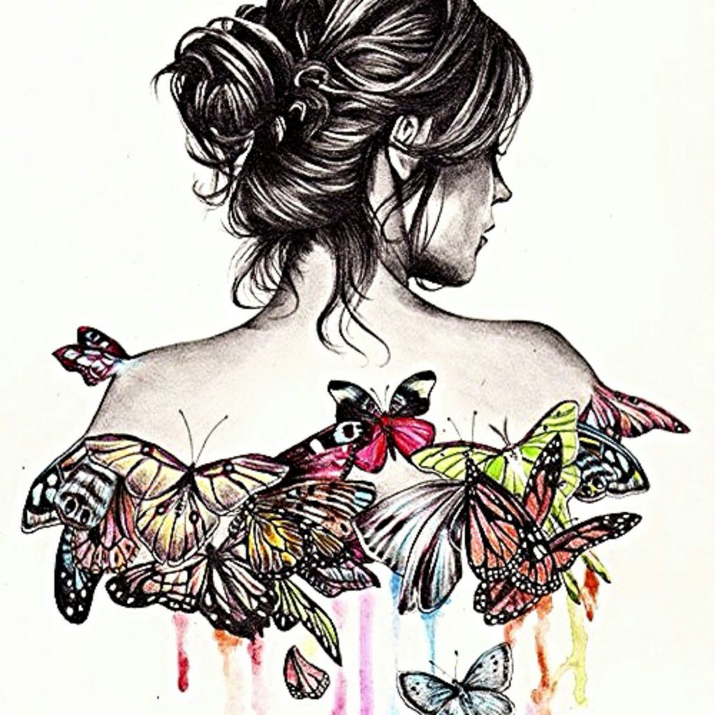 Butterfly Girl Drawing