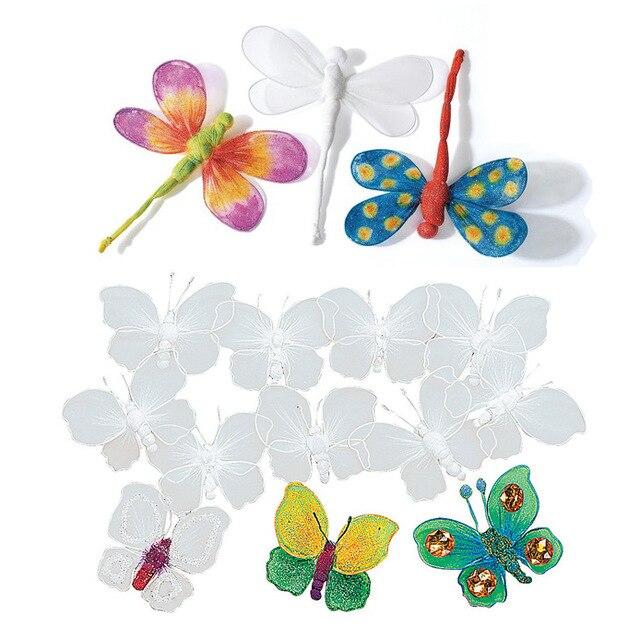 Butterfly In Garden Drawing