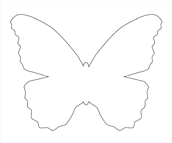 600x500 Butterfly Printout Printable Template Coloring Pages Dark Monarch