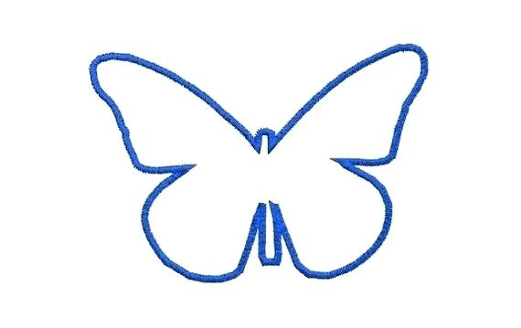 570x359 Butterfly Applique Template