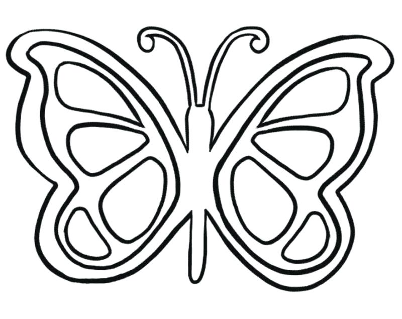 800x635 Butterfly Coloring Pages Printable Butterfly Color Pages Amazing
