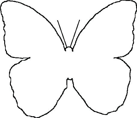 456x391 Butterfly Outline Drawing Monarch Butterf Outline Drawing Clip Art