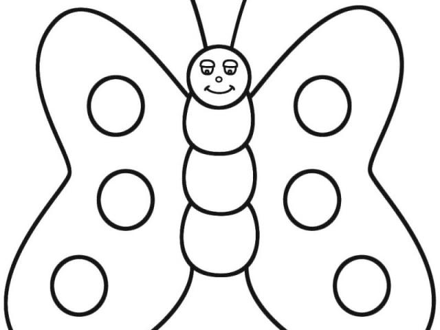 640x480 Cute Butterfly Line Drawing