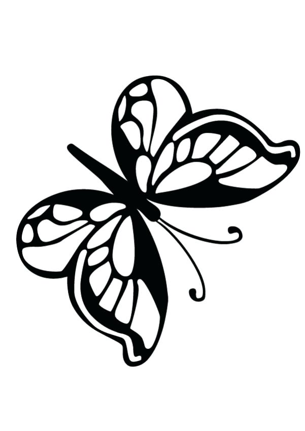 601x850 simple butterfly outline simple butterfly line drawing simple