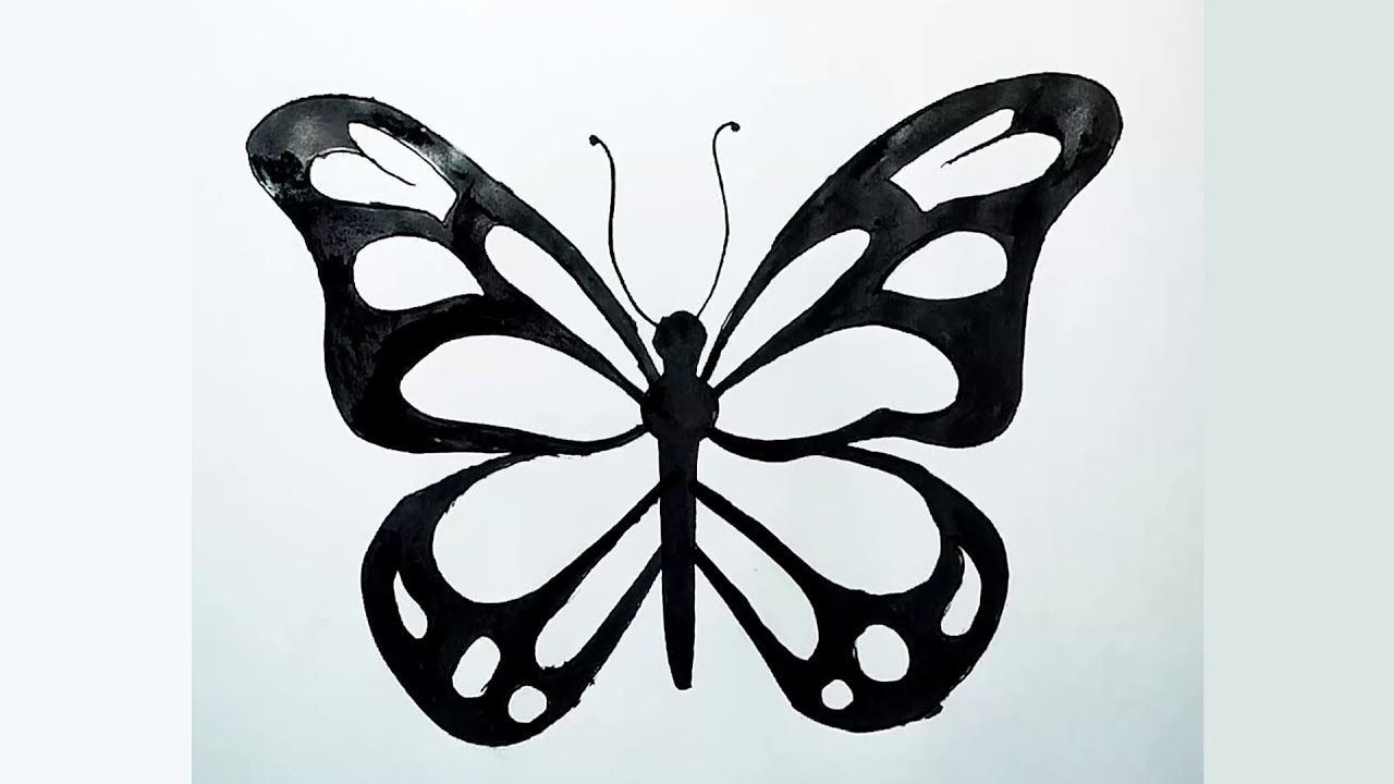 1280x720 How To Draw Most Beautiful Butterfly