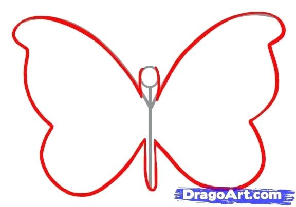 576x404 Simple Butterfly Drawing How To Draw A Simple Butterfly Step