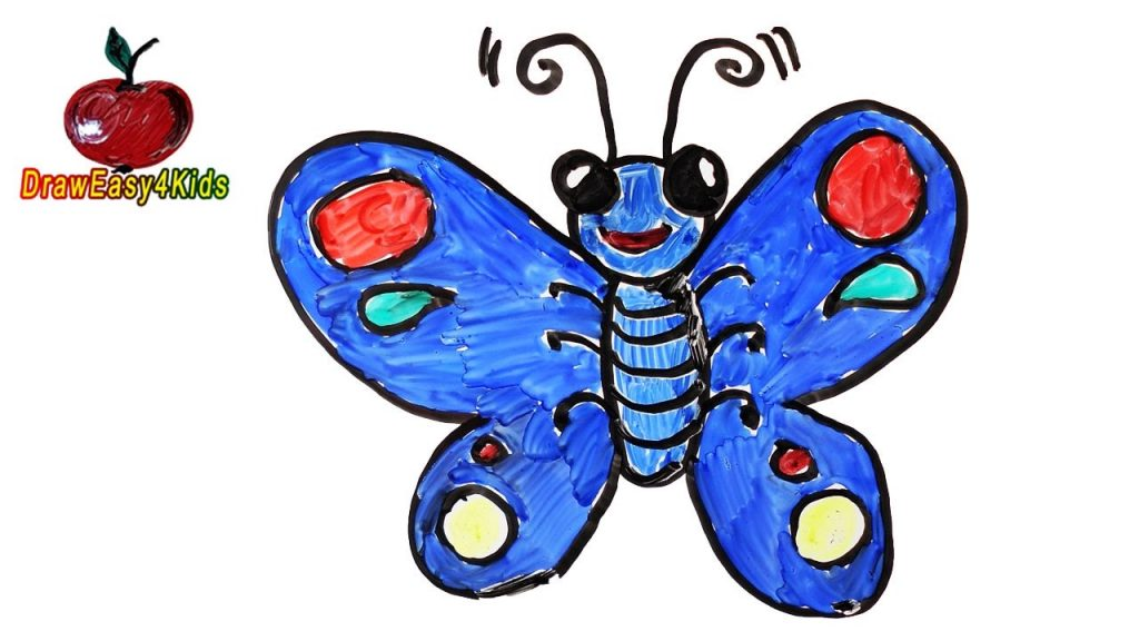 1024x576 Wonderful Cartoon Of Butterfly Drawing At Getdrawings Com Free