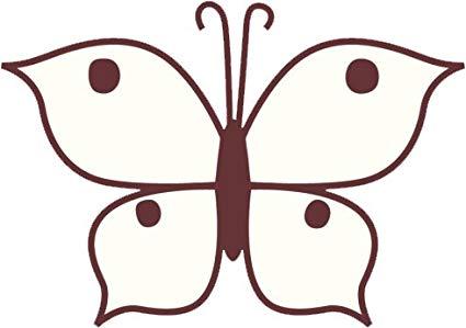 425x299 Girly Delicate Maroon Cartoon Butterfly Drawing Vinyl