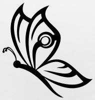 190x200 Butterfly Tattoo Baby Bib Spreadshirt