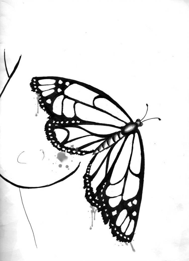 761x1051 Butterfly Tattoo Design