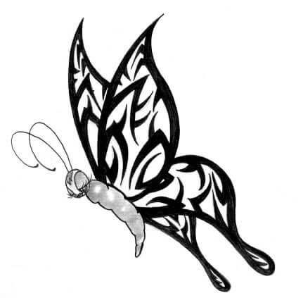 431x423 Butterfly Tattoo Designs